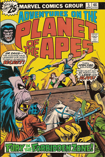 Cover for Adventures on the Planet of the Apes (Marvel, 1975 series) #5 [25 cent cover price]