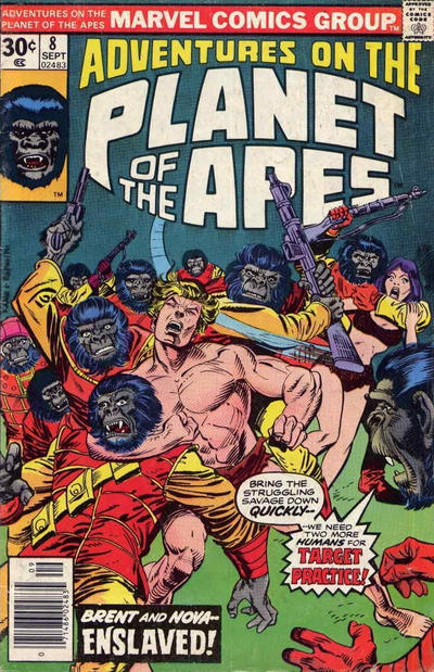 Cover for Adventures on the Planet of the Apes (Marvel, 1975 series) #8
