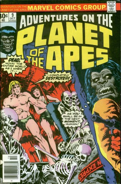Cover for Adventures on the Planet of the Apes (Marvel, 1975 series) #9