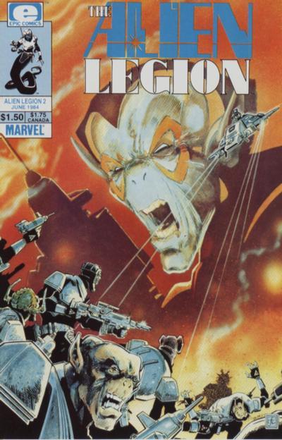 Cover for Alien Legion (Marvel, 1984 series) #2
