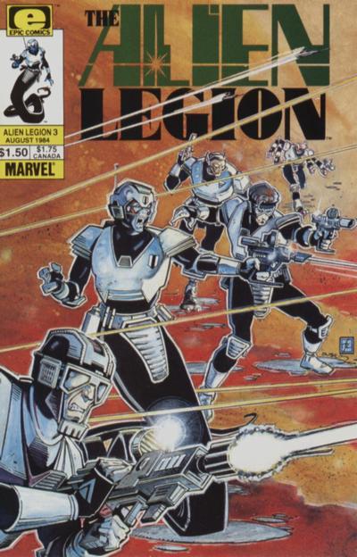Cover for Alien Legion (Marvel, 1984 series) #3