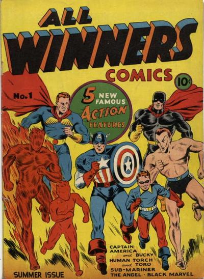 Cover for All-Winners Comics (Marvel, 1941 series) #1