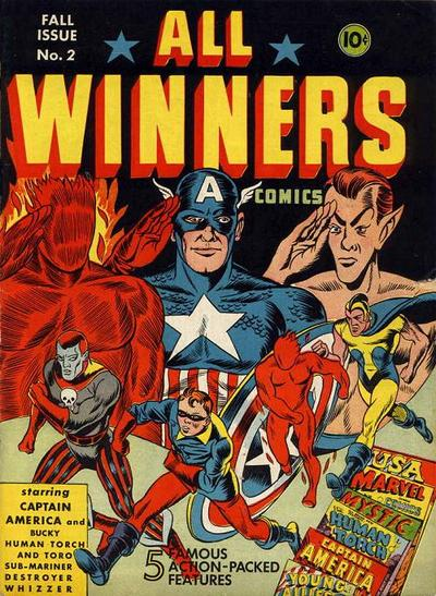Cover for All-Winners Comics (Marvel, 1941 series) #2