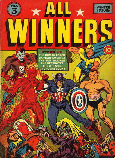 Cover for All-Winners Comics (Marvel, 1941 series) #3