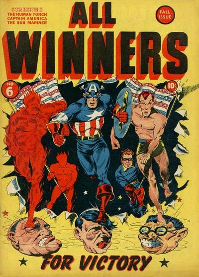 Cover for All-Winners Comics (Marvel, 1941 series) #6