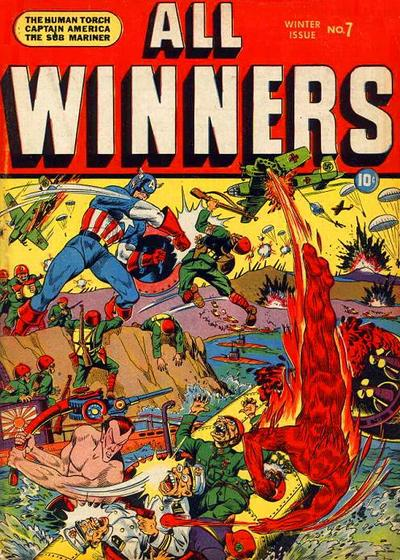 Cover for All-Winners Comics (Marvel, 1941 series) #7
