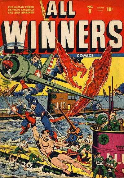 Cover for All-Winners Comics (Marvel, 1941 series) #9