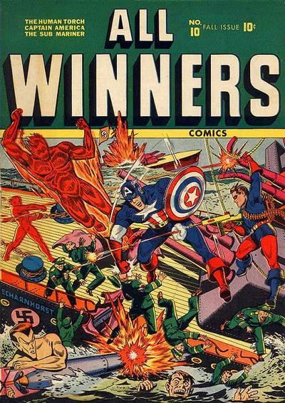 Cover for All-Winners Comics (Marvel, 1941 series) #10