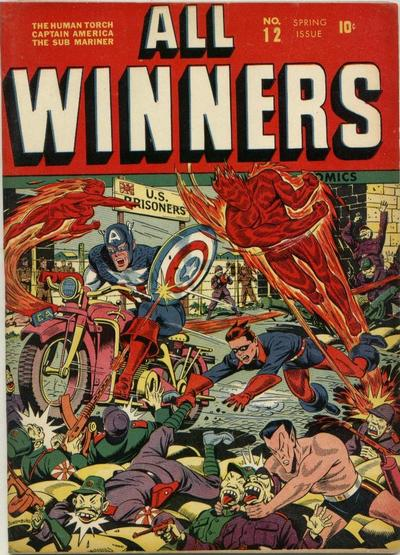 Cover for All-Winners Comics (Marvel, 1941 series) #12