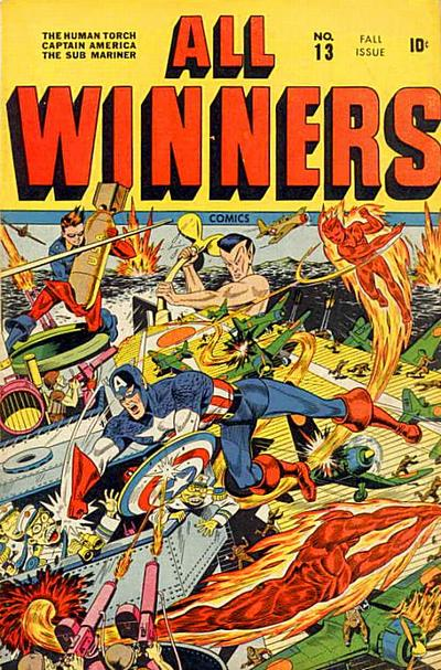 Cover for All-Winners Comics (Marvel, 1941 series) #13