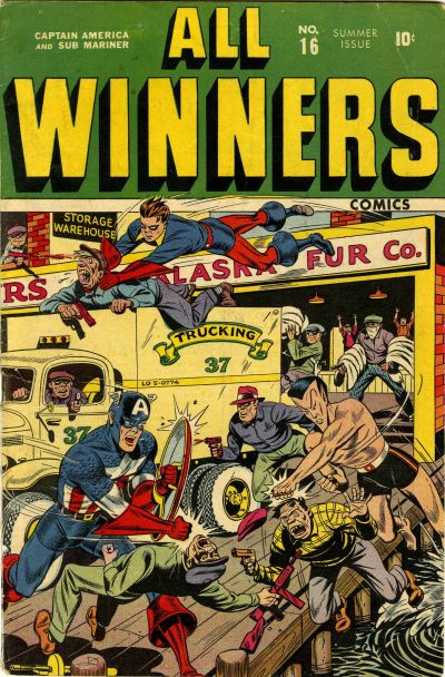 Cover for All-Winners Comics (Marvel, 1941 series) #16