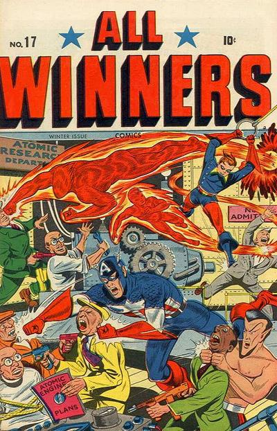 Cover for All-Winners Comics (Marvel, 1941 series) #17