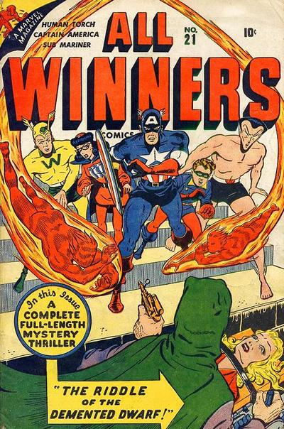 Cover for All-Winners Comics (Marvel, 1941 series) #21