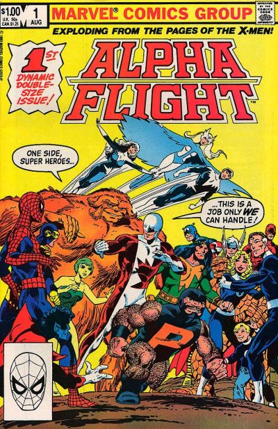 Cover for Alpha Flight (Marvel, 1983 series) #1 [Newsstand]