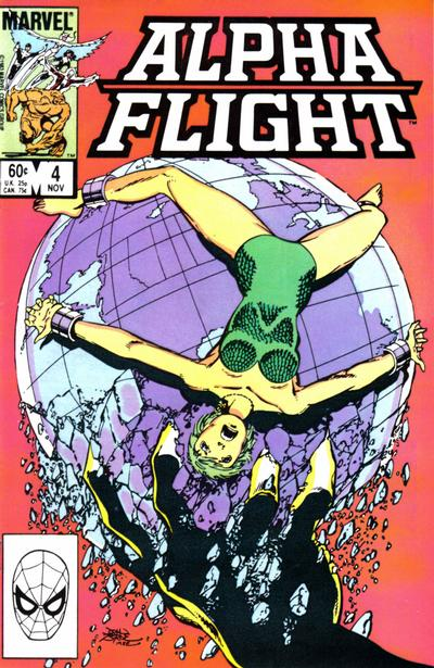 Cover for Alpha Flight (Marvel, 1983 series) #4 [Newsstand]