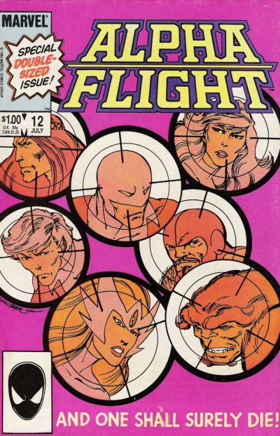 Cover for Alpha Flight (Marvel, 1983 series) #12 [Newsstand]