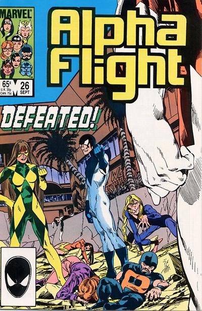 Cover for Alpha Flight (Marvel, 1983 series) #26 [Direct Edition]