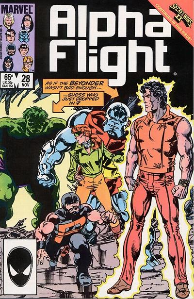 Cover for Alpha Flight (Marvel, 1983 series) #28 [Newsstand Edition]