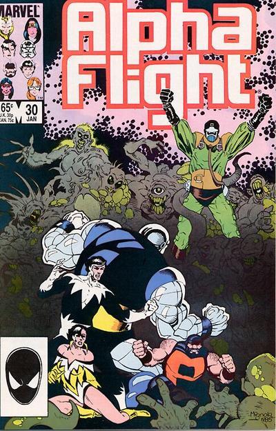 Cover for Alpha Flight (Marvel, 1983 series) #30 [Newsstand]