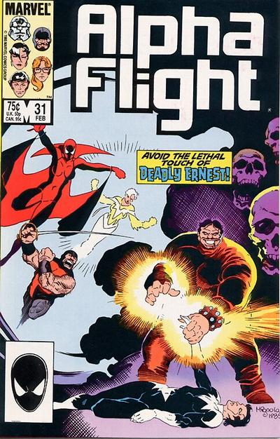 Cover for Alpha Flight (Marvel, 1983 series) #31 [Direct Edition]