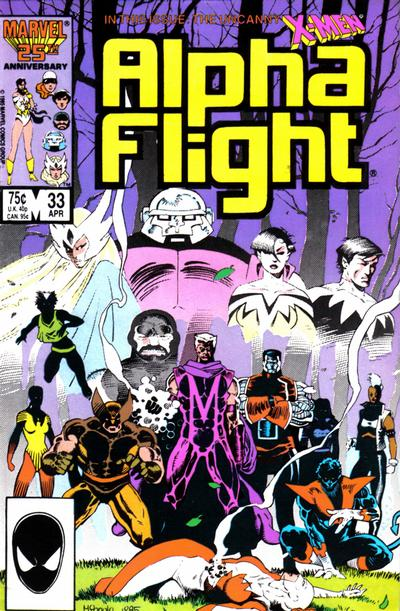 Cover for Alpha Flight (Marvel, 1983 series) #33 [Direct Edition]