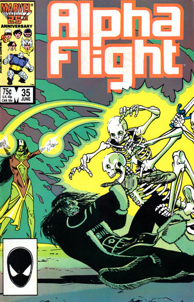 Cover for Alpha Flight (Marvel, 1983 series) #35 [Direct Edition]