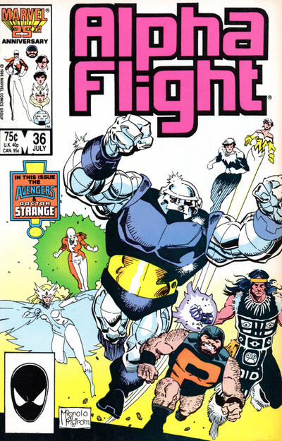 Cover for Alpha Flight (Marvel, 1983 series) #36 [Direct Edition]