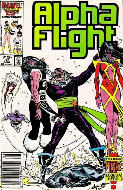 Cover for Alpha Flight (Marvel, 1983 series) #37 [Direct Edition]