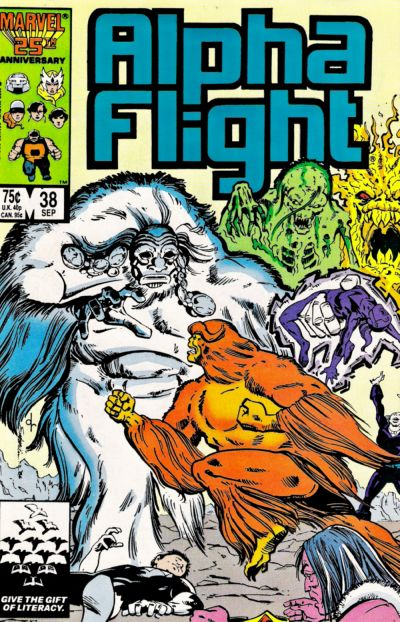 Cover for Alpha Flight (Marvel, 1983 series) #38 [Newsstand Edition]