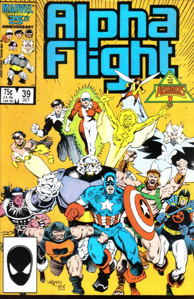 Cover for Alpha Flight (Marvel, 1983 series) #39 [Direct Edition]