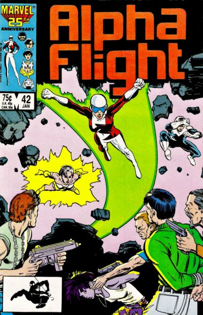 Cover for Alpha Flight (Marvel, 1983 series) #42 [Direct Edition]