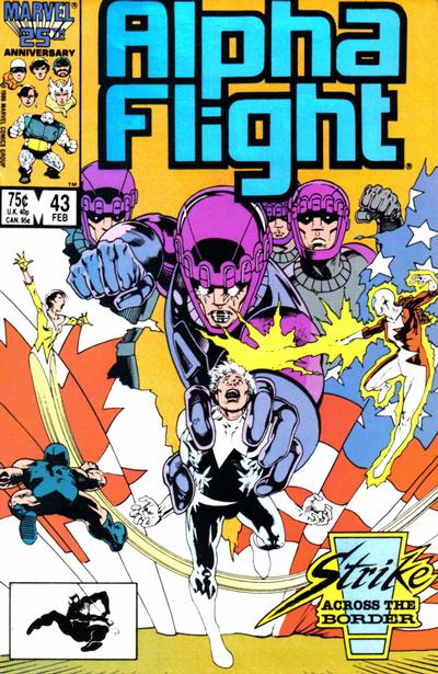Cover for Alpha Flight (Marvel, 1983 series) #43 [Direct Edition]