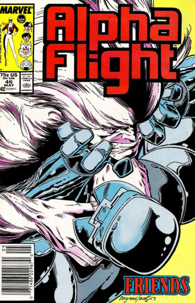Cover for Alpha Flight (Marvel, 1983 series) #46 [Direct Edition]