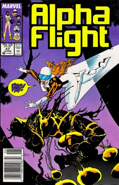 Cover for Alpha Flight (Marvel, 1983 series) #47 [Direct Edition]