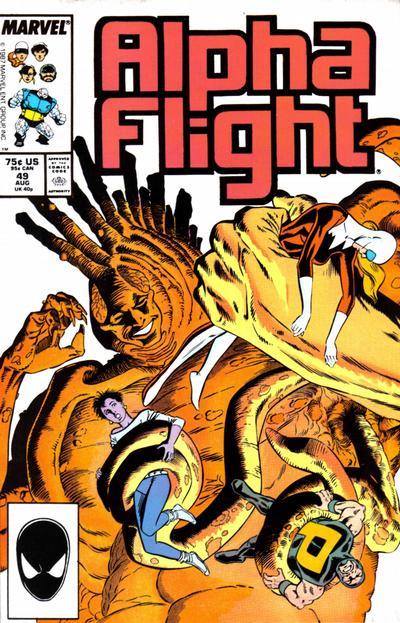 Cover for Alpha Flight (Marvel, 1983 series) #49 [Direct Edition]