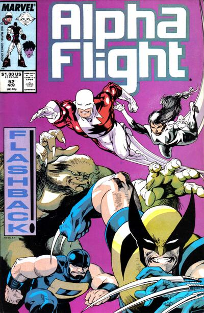 Cover for Alpha Flight (Marvel, 1983 series) #52