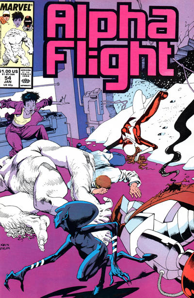 Cover for Alpha Flight (Marvel, 1983 series) #54