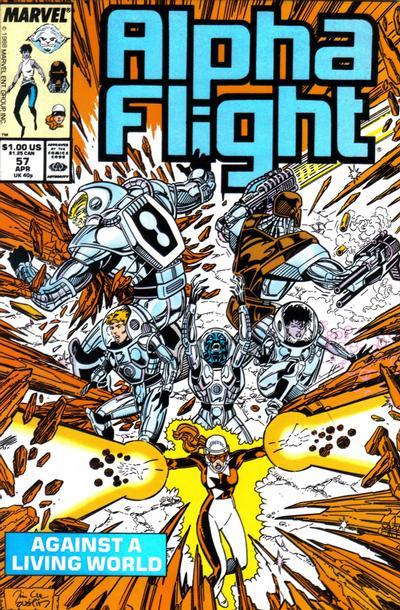 Cover for Alpha Flight (Marvel, 1983 series) #57