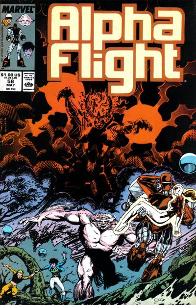 Cover for Alpha Flight (Marvel, 1983 series) #58