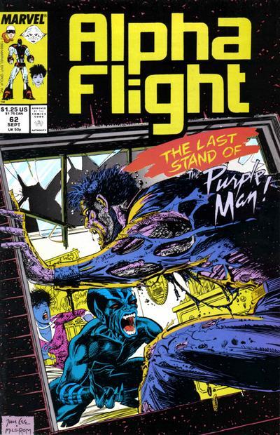 Cover for Alpha Flight (Marvel, 1983 series) #62