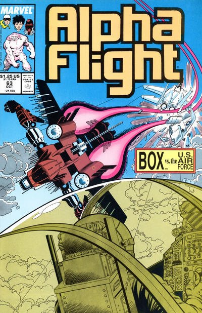 Cover for Alpha Flight (Marvel, 1983 series) #63