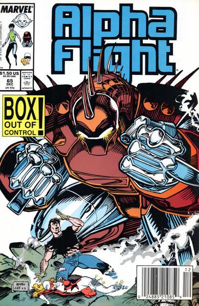 Cover for Alpha Flight (Marvel, 1983 series) #65