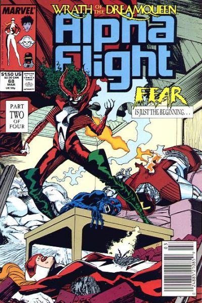 Cover for Alpha Flight (Marvel, 1983 series) #68