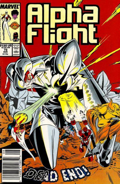 Cover for Alpha Flight (Marvel, 1983 series) #73