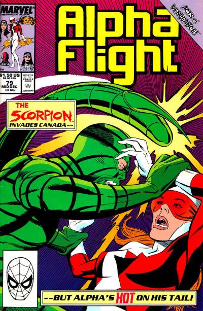 Cover for Alpha Flight (Marvel, 1983 series) #79