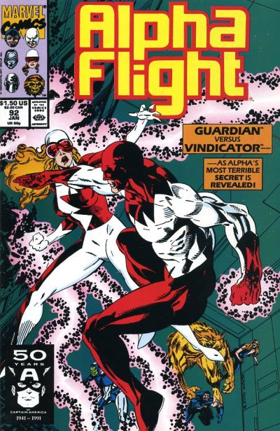 Cover for Alpha Flight (Marvel, 1983 series) #92