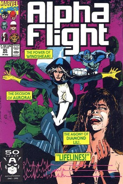 Cover for Alpha Flight (Marvel, 1983 series) #95
