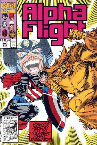 Cover for Alpha Flight (Marvel, 1983 series) #103