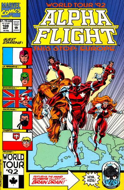 Cover for Alpha Flight (Marvel, 1983 series) #108