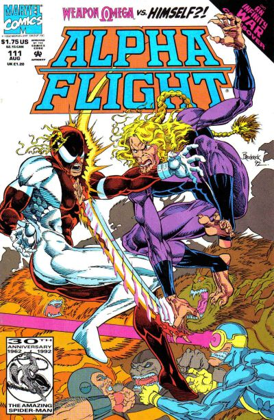 Cover for Alpha Flight (Marvel, 1983 series) #111